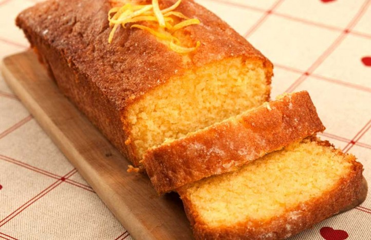 lemon drizzle made with pea flour